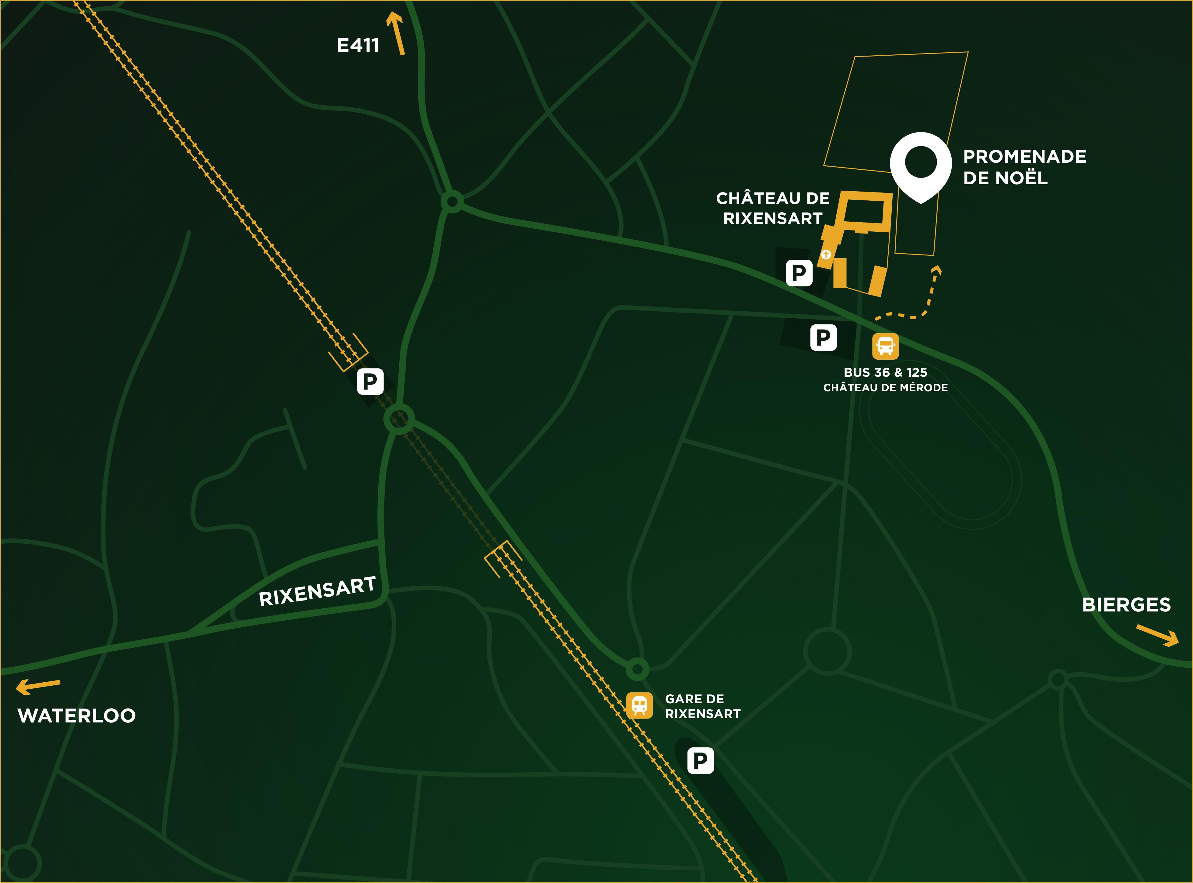 Itinéraire vers le Château de Rixensart